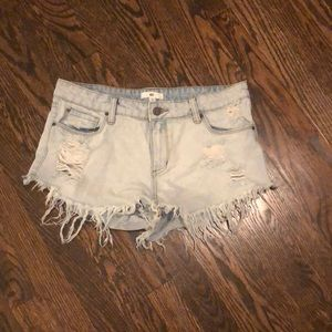 BP from Nordstrom denim cut off shorts